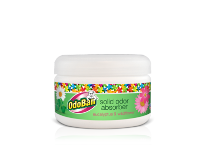 OdoBan® Pet Solid Odor Absorber & Air Freshener – Eucalyptus & Wildflower Scent – 73522